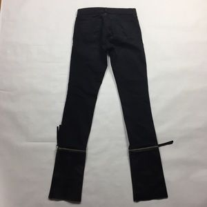 J Brand Jeans - J Brand Lamb Leather Zip Off Skinny Jean Alley Cat